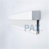 Afbeelding van Verano rolgordijn cassette vierkant - Verkeerswit met fijne streep Transparant
