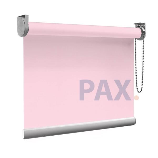 Afbeelding van Rolgordijn op maat Zijsteunen - Roze licht macaron Verduisterend