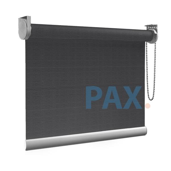Afbeelding van XL Rolgordijn op maat Zijsteunen - Donkergrijs licht Verduisterend