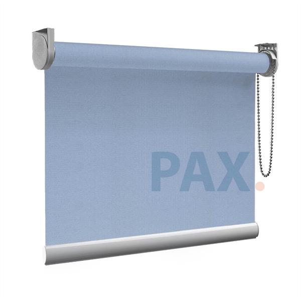 Afbeelding van Rolgordijn Breed Montagesteunen - Licht blauw macaron Semi transparant