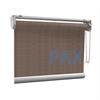 Afbeelding van Rolgordijn op maat met Kliksysteem - Stijlvol ouderwets bruin Semi transparant